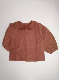 <img class='new_mark_img1' src='https://img.shop-pro.jp/img/new/icons24.gif' style='border:none;display:inline;margin:0px;padding:0px;width:auto;' />Tocoto Vintage/Bobo collar blouse with puff sleeves/Pink