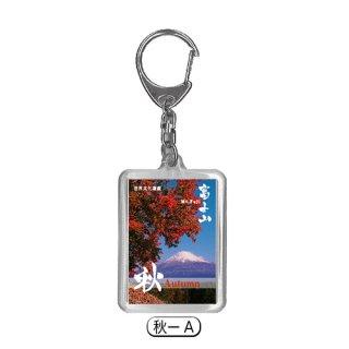 富士山の四季|キーホルダー|秋ーA|(記念品|お土産)