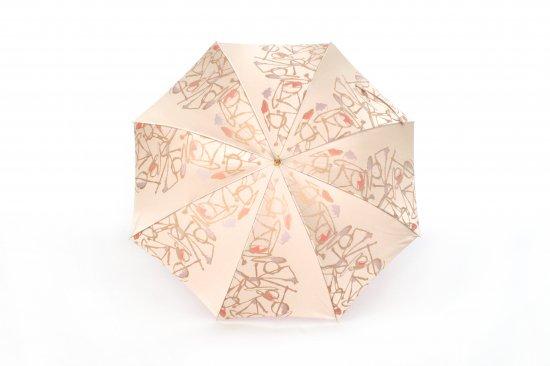 織地の傘 (ピンク)