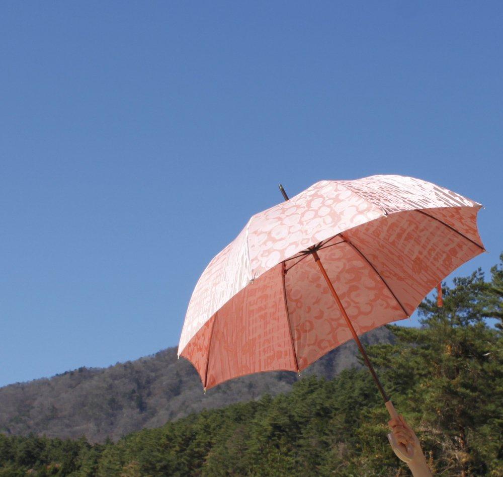織地の傘 『バラの花束』 (モモ)