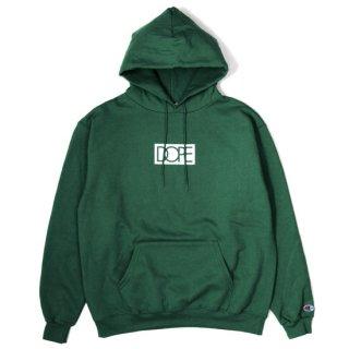 Box Logo Dope × Champion Hoodie Dk.Green