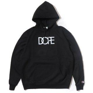 Classic Logo Dope×Champion Hoodie Black