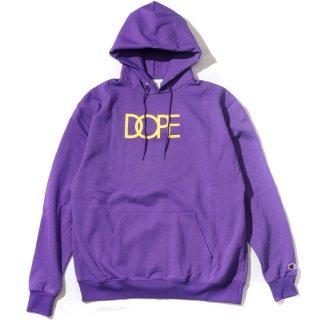 Classic Logo Dope×Champion Hoodie Purple