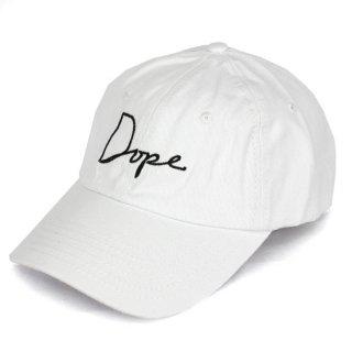 Dope Script Cap  White