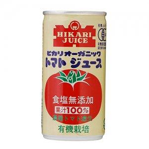 ヒカリ オーガニックトマトジュース無塩 190g