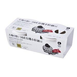 【冷蔵】大地の想い 国産有機小粒納豆40gx2P