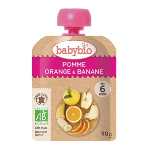 有機ベビースムージーアップル・オレンジ・バナナ 90g