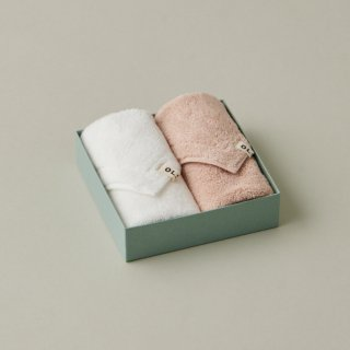 OLSIA Premium Cotton ハンカチタオル2枚 ギフトボックスセット