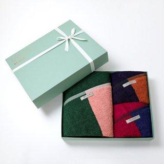 2couleurs ギフトセット(バスタオル1枚 フェイスタオル2枚)白箱