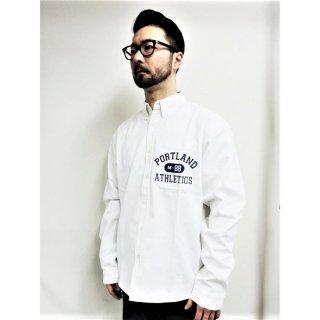 PINECONE twill b.d shirt w/EMBROIDERY (PORTLAND) WHITE