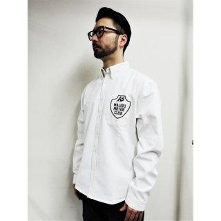 PINECONE twill b.d shirt w/EMBROIDERY (MALIBU) WHITE