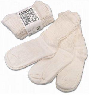 ORGANIC THREADS / 3p regular crew socks NATURAL