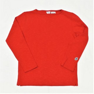 PINECONE x Tieasy / boatneck L/S  OLD RED