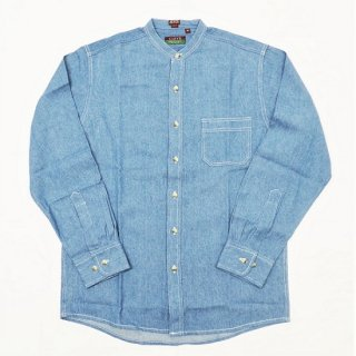 CLEVE SHIRT MAKERS / SPECIAL L/S BAND COLLAR DENIM SHIRT
