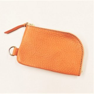 BRONSON LEATHER / ARIZONA LEATHER ZIPPER COIN PURSE (CAMEL)