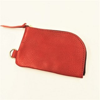 BRONSON LEATHER / ARIZONA LEATHER ZIPPER COIN PURSE (RED)