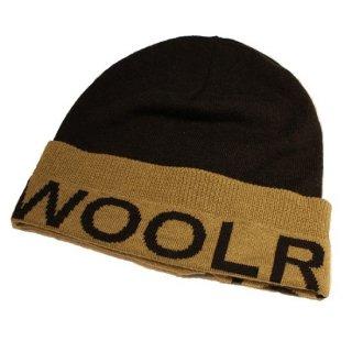 WOOLRICH /  LOGO BEANIE CAP (GREY/BEIGE)