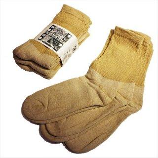 ORGANIC THREADS / 3p regular crew socks BEIGE