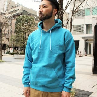 FRUIT OF THE LOOM  / FRUIT DYED HOODED SWEAT (BLUEBERRY)