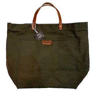 BRADLEY MOUNTAIN / COAL TOTE LEATHER HANDLE (OLIVE)