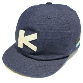 KAVU / BASEBALL CAP DUCK CLOTH- NAVY