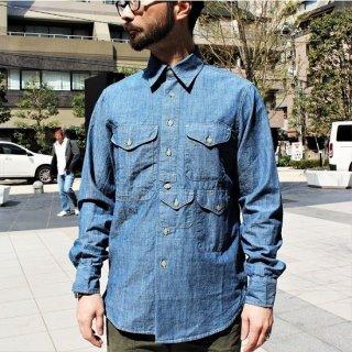 マニファッツュラ・チェッカレッリ MANIFATTURA CECCARELLI / ヒストリック シャンブレー シャツ #701 QV HISTORIC SHIRT (ブルー) BLUE