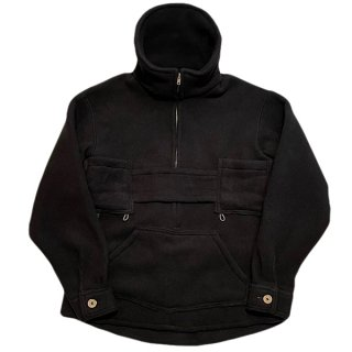 DAY ONE CAMOUFLAGE / FLEECE PULLOVER JACKET - BLACK