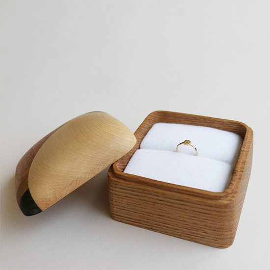 寄木のリングケース