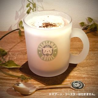 ガラスフロストマグカップ『ゲスくま/coffee柄』