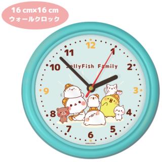 ウォールクロック・壁掛け時計【JELLYFISH Family】