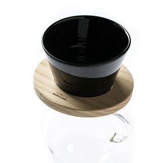 ドーナツ コーヒードリッパー「mountain coffee dripper」(黒)