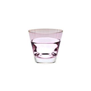グラス「デュオ オールド」(ワインレッド)