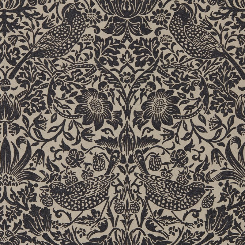 Pure Strawberry Thief  / 216018 / Pure Morris Wallpapers / Morris&Co.