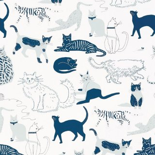 Cat's Meow (Blue) / JRO-065 / Julia Rothman / Hygge & West