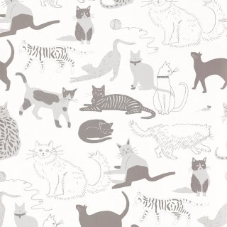 Cat's Meow (Gray) / JRO-067 / Julia Rothman / Hygge & West