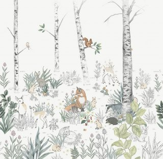 Magic Forest Mural / 7481 / Newbie Wallpaper / Borastapeter