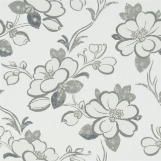 Lotus Flower-Slate/ P571/03 / Amrapali Wallpaper / Designers Guild