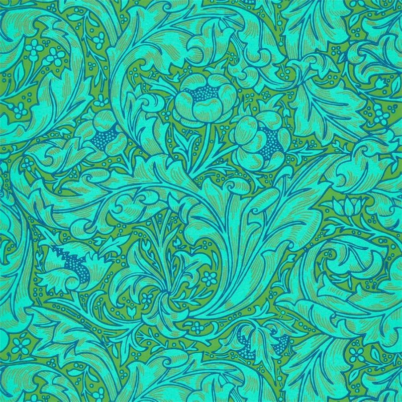 Bachelors Button / 216959 / Queen Square Wallpapers / Morris&Co.
