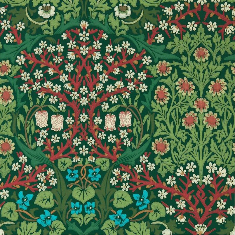 Blackthorn / 216962 / Queen Square Wallpapers / Morris&Co.