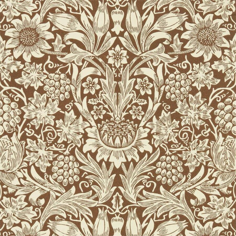 Sunflower / 216961 / Queen Square Wallpapers / Morris&Co.