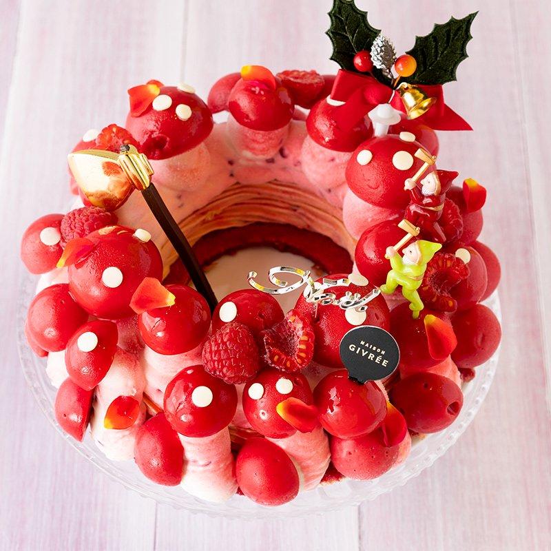 クリスマスリース シャンピニオンフランボワーズ(限定50個)(お届けは12月19日〜12月26日)