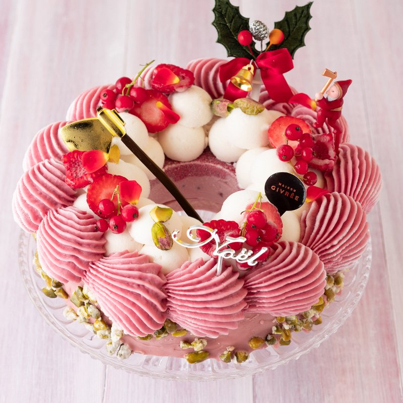 クリスマスリース ルビーフランボワーズ(限定50個)(お届けは12月19日〜12月26日)
