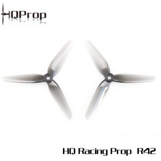 HQ Racing Prop R42 (2CW+2CCW)-Poly Carbonate グレー