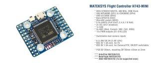 MATEKSYS FLIGHT CONTROLLER H743-MINI