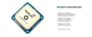 MATEKSYS GNSS & COMPASS M9N-5883