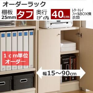 オーダーラック(奥行ミディアムディープ40cm/棚厚タフタイプ)