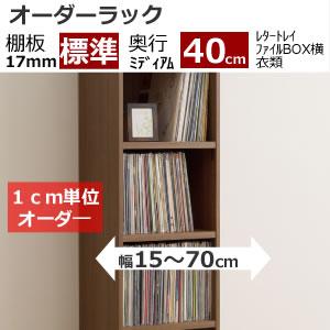 オーダーラック(奥行ミディアムディープ40cm/棚厚標準タイプ)