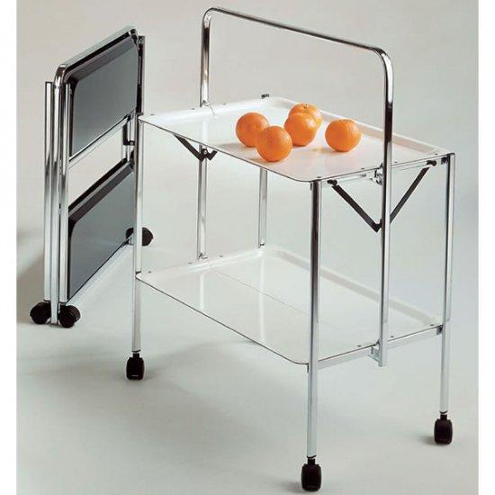 折りたたみダイニングワゴン/SELECT 0/142イタリア組立家具pezzani(幅64奥行42高さ82)