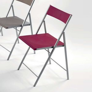 折りたたみチェア/P4YOU/FIRST イタリア組立家具Pezzani(スチール・樹脂製,軽量,カラフル)