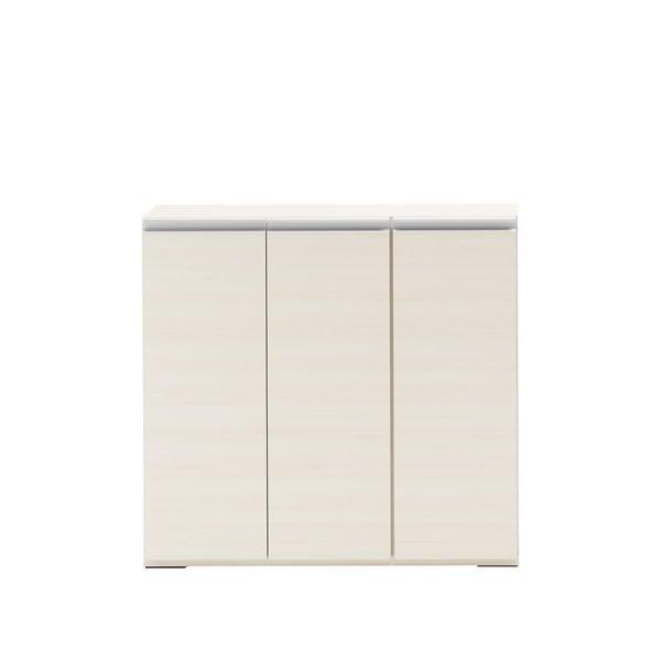 扉付カウンター下収納/ホワイトウッド(完成品 幅90.5奥行31高さ84cm)